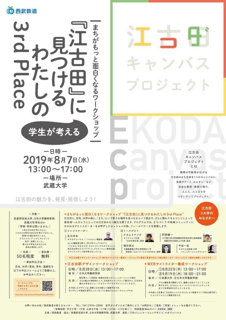 西武鉄道主催「江古田キャンバスプロジェクト」ワークショップにゲスト出演しました